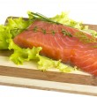 Salmon fillet garnished — Stock Photo #20764601