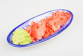 Wasabi och sushi ingefära — Stockfoto