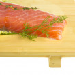 Salmon fillet garnished — Stock Photo #21337165