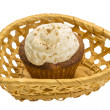 Cupcake with cream — Stock Photo