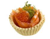 Salmon appetizer — Stock Photo