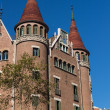 Stock Photo: Modernist house like castle in Barceloncity