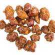 Chocolate covered nuts — Stock Photo