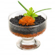 Rad and Black caviar — Stock Photo #22636639