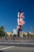 Barcelona -, 28 de outubro: escultura de cabeça de barcelona no dia 28 de outubro, — Fotografia Stock