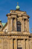 Warsaw, Poland - Carmelite church at famous Krakowskie Przedmies — Stock Photo