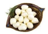 Foto di ciliege deliziose mozzarelle piccole — Foto Stock