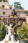 Fountain and Temple of Vesta, Rome, Italy — Stock Photo