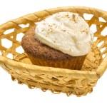 Cupcake with cream — Stock Photo