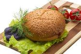Broodje met sesam — Stockfoto