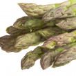Fresh asparagus spears isolated on white - Stock Photo