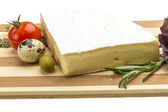 Wedge of Gourmet Brie Cheese — Stock Photo