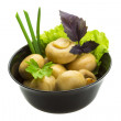 Ripe fresh Champignon - Stock Photo