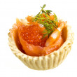 Salmon appetizer — Stock Photo #24691227