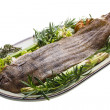 Fish Dover sole roasted — Foto Stock #24975147