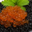 Rad and Black caviar — Stock Photo #24975425