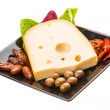 Stock Photo: Yellow ripe cheese