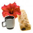 Breakfast with coffee and pastry — Stock Photo #24976725