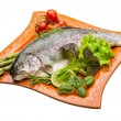 Stock Photo: Fresh raw rainbow trout