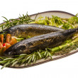 Foto Stock: Roasted Mackerel