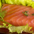 Salmon fillet garnished — Stock Photo #25249693