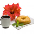 Breakfast with coffee and pastry — Stock Photo #25249713