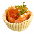 Salmon appetizer — Stock Photo