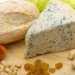 Stock Photo: Slice of blue cheese