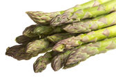 Fresh asparagus spears isolated on white — Stock Photo