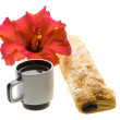 Breakfast with coffee and pastry — Stock Photo #25394319