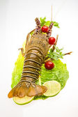 Raw spiny lobsters — Stock Photo