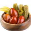Marinaded vegetables - tomato and cucumber — Stock Photo #25477149