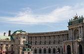 Heldenplatz i hofburg komplex, Wien, Österrike — Stockfoto