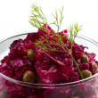 Vinaigrette Russibeetroot salad — Stock Photo #26357933