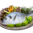 Stock Photo: Fresh raw dorada