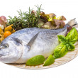 Royalty-Free Stock Photo: Fresh raw dorada