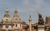 Chiesa del Santissimo Nome di Maria al Foro Traiano and Santa Ma — Stock Photo