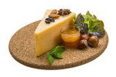 Old hard cheese — Stock Photo