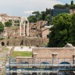 Stock Photo: Building ruins and ancient columns in Rome, Italy