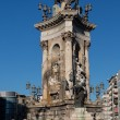 Stock Photo: Plazde Espanfountain with National Palace in background, Barcelona, Catalonia, Spain, Europe