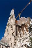 BARCELONA SPAIN - OCTOBER 28: La Sagrada Familia - the impressiv — Zdjęcie stockowe