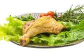 Smoked chicken leg — Stock Photo