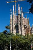 BARCELONA SPAIN - OCTOBER 28: La Sagrada Familia - the impressiv — Stock Photo