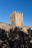 Old Wall and Tower of Barcelona City — Stock Photo