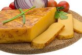 Tomates y cebolla queso — Foto de Stock