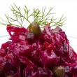 Vinaigrette Russian beetroot salad — Stock Photo