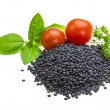 Black lentils — Stock Photo