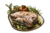 Grilled sea perch — Stock Photo