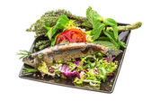Grilled Herring — Stock Photo