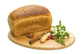 Bread with parsley and nuts — Stock Photo